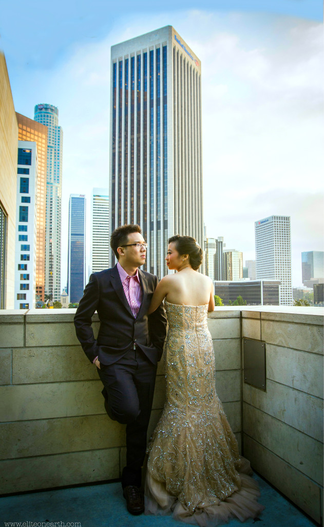 Downtown Los Angeles Engagement-83a